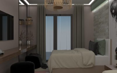 """Interior concept for """"Teenager's room"""""""