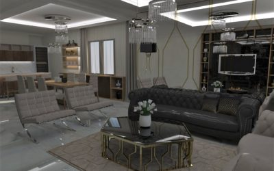 "Interior concept for ""Golden living"""