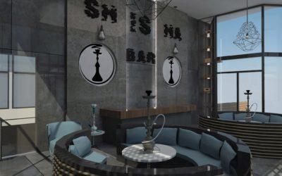 "Interior concept for ""Shisha bar"""